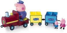 TM Toys Peppa Pig - vláček + 3 figurky