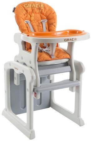 Babypoint Jídelní židlička Gracia, oranžová