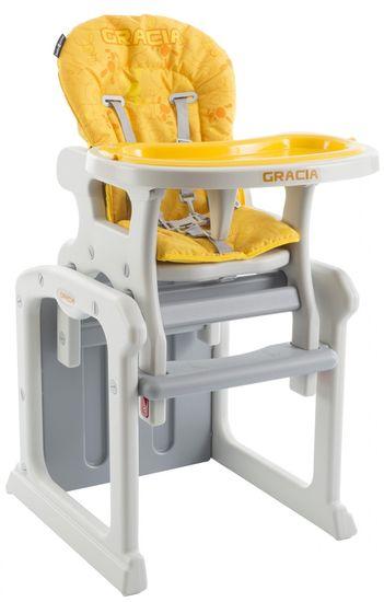 Babypoint Jídelní židlička Gracia, žlutá
