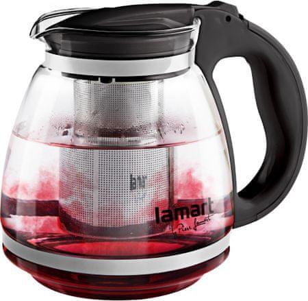 Lamart Stekleni čajnik, 1,5 L, črn