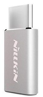 Nillkin adapter microUSB na USB-C, siv