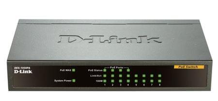 D-LINK DES-1008PA 8 port Switch