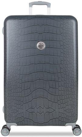 SuitSuit potovalni kovček Grey Diamond Crocodile, L, siv