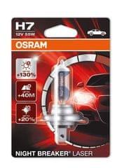 Osram Žiarovka 12V H7 55W P14.5s Night Break Unlimited Laser Blister, 1 ks (64210NBL-01B)