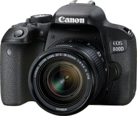 Canon zrcalno refleksni fotoaparat EOS 800D + 18-55 IS