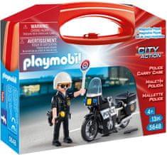 Playmobil 5648 Policist na motorju s kovčkom