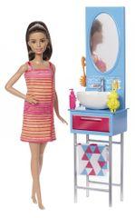 Mattel Barbie bábika a nábytok kúpeľňa