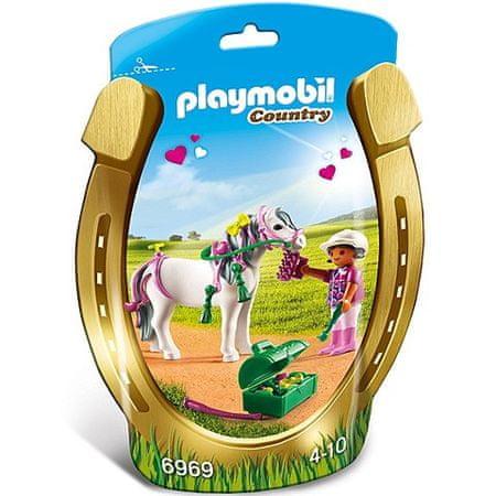Playmobil Jahač in poni s srčki (6969)