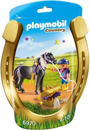 Playmobil Jahač in poni z zvezdicami (6970)