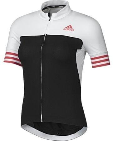 Adidas ženska kolesarska majica Adistar SS, črna/bela XS
