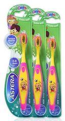 Astera dječja četkica za zube Happy zoo, 3 komada