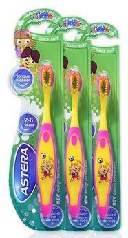 Astera otroška zobna ščetka Happy zoo 3 pack