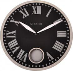 NEXTIME stenska ura, steklo 43x0,4 cm
