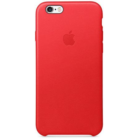 Apple usnjeni ovitek za iPhone 6s, rdeč