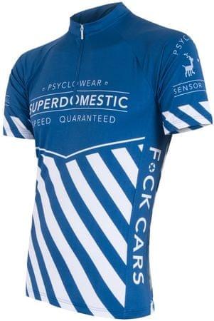 Sensor kolesarska majica Superdomestic, modra, XL