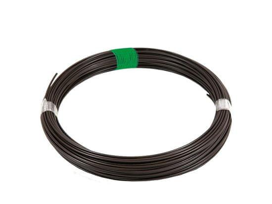 Napínací drát Zn+PVC 78m, 2,25/3,40, hnědý (zelený štítek)