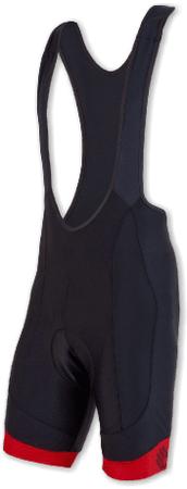 Sensor moške kratke hlače z naramnicami Cyklo Race, črne/rdeče, S
