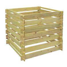Portoss drveni komposter 80×80×80 cm