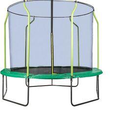 Hudora trampolin z zaščitno mrežo, zelen