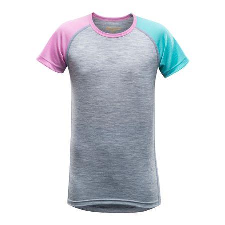 Devold Breeze Junior T-Shirt Peony Stripes 10