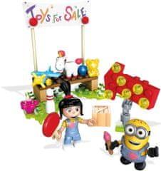 MEGA BLOKS Mimoňovia Agnes predáva hračky