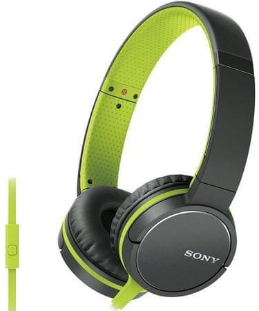 SONY MDR-ZX660AP Fejhallgató, Zöld