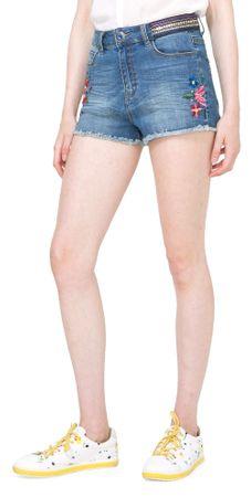 Desigual ženske kratke hlače Ight Waz 25 plava
