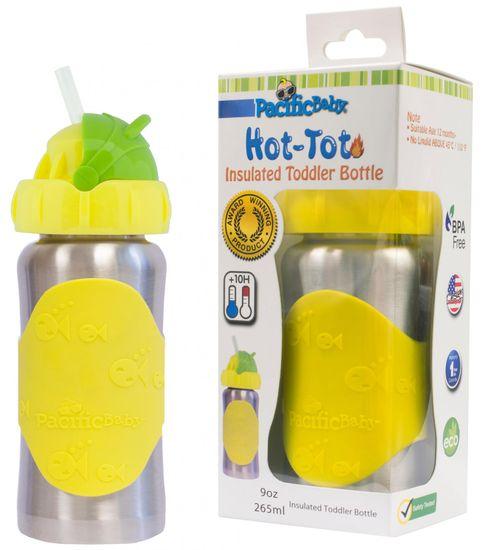 Pacific Baby Hot-Tot termoska s brčkem 260 ml - žlutá