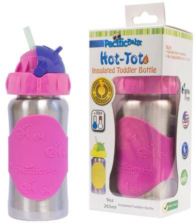 Pacific Baby Hot-Tot termosz itatócsőrrel 260 ml - rózsaszín