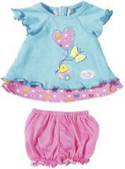 BABY born oblekca z metuljčkom, modra
