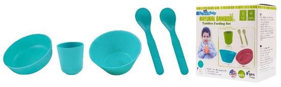 Pacific Baby Bambusové nádobí, velká sada - modrá
