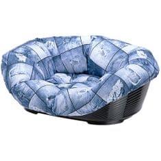 Ferplast podstavljen plastični ležaj Sofa, plavi