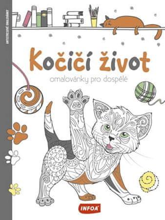 Kočičí život - Omalovánky pro dospělé