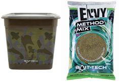 Bait-Tech krmítková směs camo bucket envy hemp & halibut method mix 3 kg