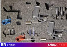 ANDA Signalizátory záběru modrá + červená 2 ks