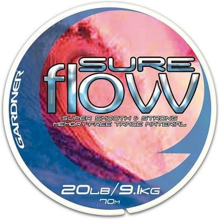 Gardner - Návazcový vlasec  Sure Flow 70 m crystal 15lb/6,8kg