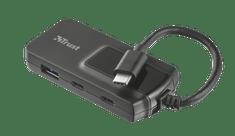 Trust 4 portni USB hub Oila 21321, 2+2 USB-c USB 3.1