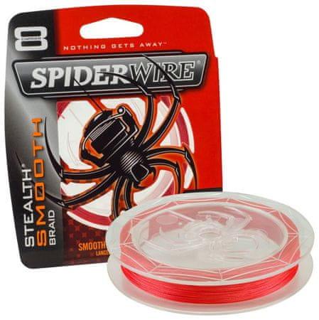 Spiderwire Spiderware Splétaná šňůra Stealth Smooth 8 150 m červená 0,25 mm, 27,3 kg