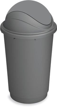 Kis koš za odpadke Pivot, 60 l, siv