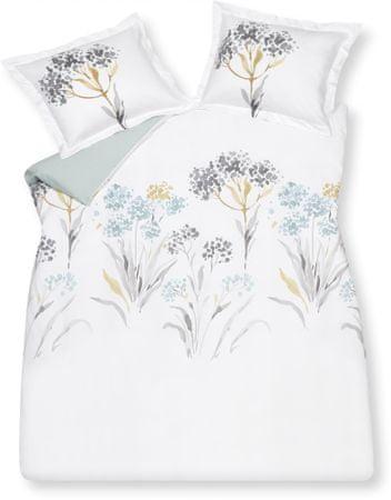 Vandyck Luxusné saténové obliečky Twig Sea Gree