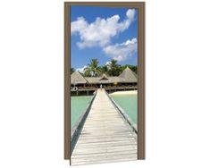 Dimex Fototapeta na dvere DL-016 Drevené mólo 95 x 210 cm