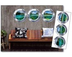 Dimex Dekoračné nálepky na stenu Okrúhle okná - 65 x 165 cm