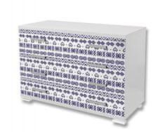 Dimex Nálepky na nábytok - Čičmanský vzor, 85 x 125 cm