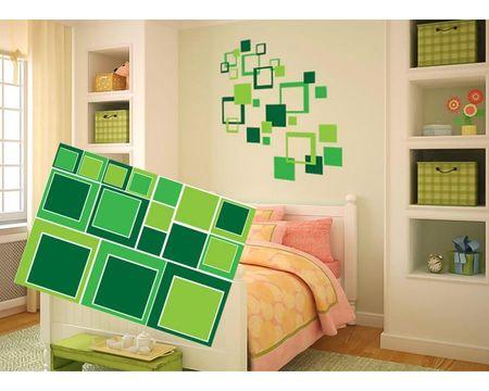 Dimex Dekoračné nálepky na stenu Zelené štvorce - 50 x 70 cm