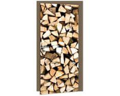 Dimex Fototapeta na dvere DL-024 Drevené klátiky 95 x 210 cm