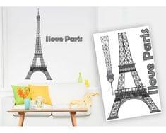 Dimex Dekoračné nálepky I love Paris, 65 x 100 cm