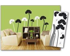Dimex Dekoračné nálepky na stenu Kvety čiernobiele - 65 x 165 cm