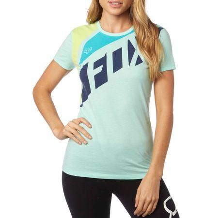 FOX dámské tričko Seca Crew L tyrkysová