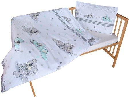 COSING COMFORT Gyermek ágyneműszett, fehér és szürke