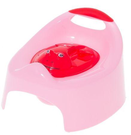 COSING Nočník hrací s krytom Žabička - ružová